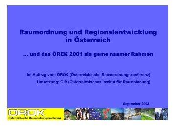 Präsentation - PDF-Datei - Österreichische Raumordnungskonferenz