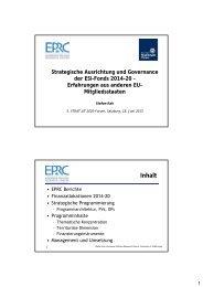 Strategische Ausrichtung und Governance der ESI-Fonds 2014-20