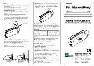 Betriebsanleitung - OERTLI Werkzeuge AG