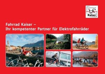Ihr kompetenter Partner für Elektrofahrräder - Fahrrad Kaiser GmbH