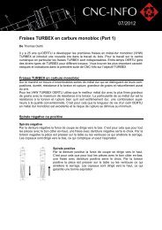 Fraises TURBEX en carbure monobloc (Part 1)