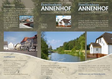 Familienhaus - Herzlich Willkommen in Ihrem Familienhaus Annenhof