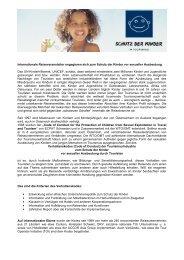 Detailinfo Schutz der Kinder vor sexueller Ausbeutung - ÖRV