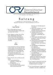Statuten zum Downloaden - ÖRV