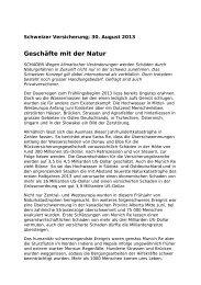 Geschäfte mit der Natur - Oeschger Centre for Climate Change ...