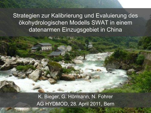 Strategien zur Kalibrierung und Evaluierung des ökohydrologischen ...