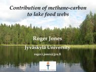 Contribution of methane-carbon to lake food webs - Oeschger ...