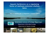 Aquatic herbivores as a regulating factor of methane emission ...