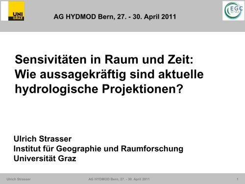 Zur Skalenfrage - Oeschger Centre for Climate Change Research