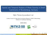 Spatial and Temporal Analysis of Water Scarcity in Small ...