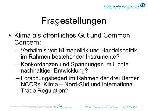 Präsentation als pdf (313 kB) - Oeschger Centre for Climate Change ...