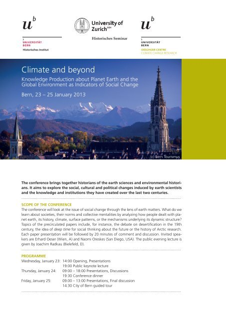 Flyer - Oeschger Centre for Climate Change Research