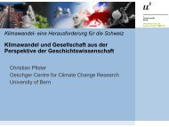 Präsentation als pdf (802 kB) - Oeschger Centre for Climate Change ...
