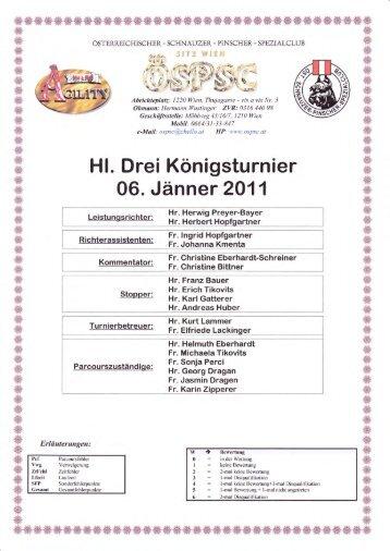 Hl. Drei Königsturnier 06. Jänner 2011 - ÖSPSC
