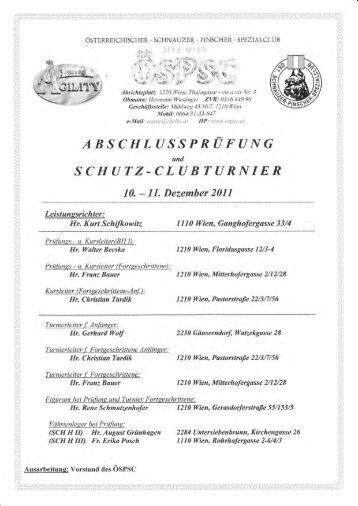 Ergebnisse Leistung-Clubturnier Herbst 2011 - ÖSPSC