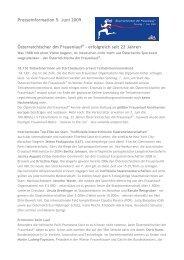 Presseinformation 5. Juni 2009 Österreichischer dm Frauenlauf ...