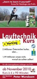Lauftechnik - Österreichischer Frauenlauf