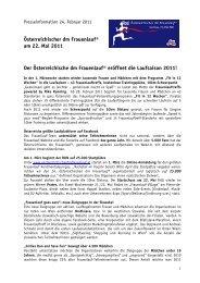 Österreichischer dm Frauenlauf® am 22. Mai 2011 Der ...