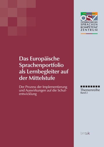 Das Europäische Sprachenportfolio als Lernbegleiter auf der ...