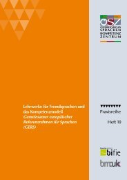 Lehrwerke für Fremdsprachen und das Kompetenzmodell GERS