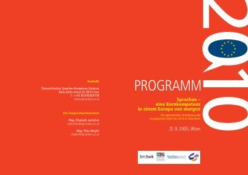 PROGRAMM - Österreichisches-Sprachen-Kompetenz-Zentrum