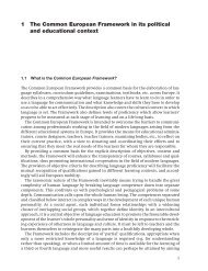 1 The Common European Framework in its political and educational ...