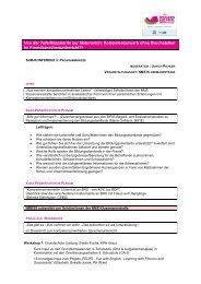 vorläufiges Programm Sub-Konferenz 3