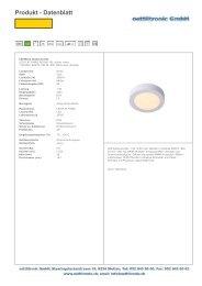 Produkt - Datenblatt - oettlitronic