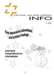 Ausgabe 4/2005 - Oetwil an der Limmat