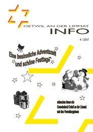 Ausgabe 4/2007 - Oetwil an der Limmat