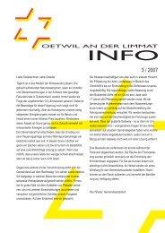 Ausgabe 3/2007 - Oetwil an der Limmat