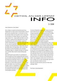 Ausgabe 3/2008 - Gemeinde Oetwil an der Limmat