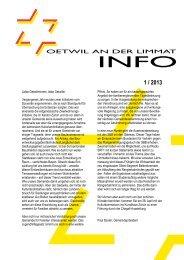 Ausgabe 1/2013 - Gemeinde Oetwil an der Limmat