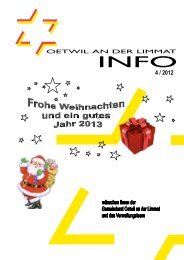Ausgabe 4/2012 - Gemeinde Oetwil an der Limmat