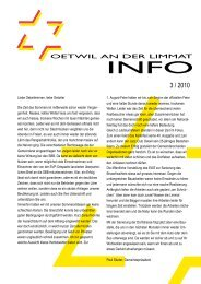 Ausgabe 3/2010 - Gemeinde Oetwil an der Limmat