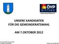 unsere kandidaten für die gemeinderatswahl am 7 ... - ÖVP Kittsee