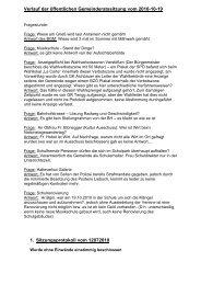 UNTERLAGEN zur Gemeinderatssitzung vom 2010 ... - ÖVP Lieboch