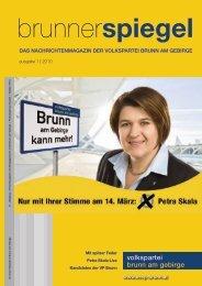 Brunner Spiegel - Österreichische Volkspartei Brunn am Gebirge