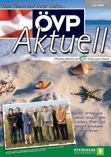 Juli 2008 - ÖVP Lieboch