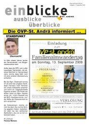 Herbst 2009 - ÖVP Kärnten