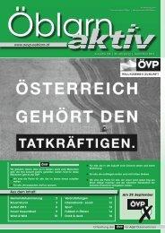 www.oevp-oeblarn.at Aus dem Inhalt: Am 29. September - ÖVP Öblarn