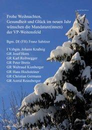 Titelseite A4 Weihnachten 2010 - ÖVP Kärnten