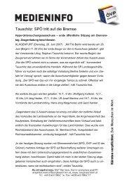 Tauschitz: SPÖ tritt auf die Bremse - ÖVP Kärnten