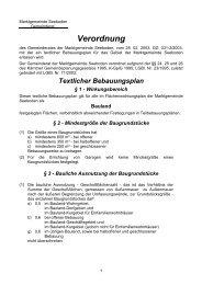 Textlicher Bebauungsplan Seeboden 2003