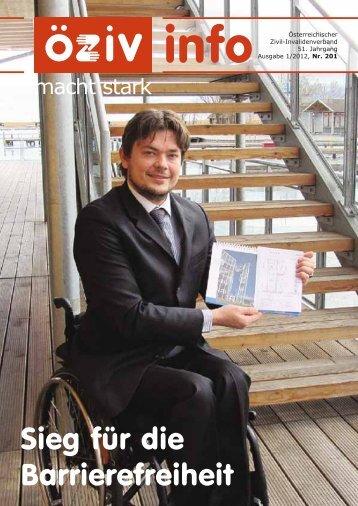ÖZIV-INFO 1/12 als PDF - Österreichischer Zivil-Invalidenverband