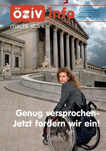 3/08 als PDF - Österreichischer Zivil-Invalidenverband