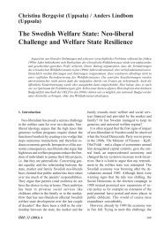 The Swedish Welfare State: Neo-liberal Challenge and Welfare ...