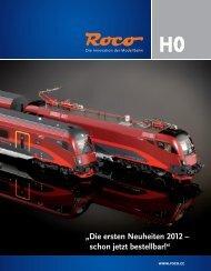 Roco Vorab-Neuheiten 2012 - Modellbahnshop Sebnitz