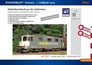 SONDERBLATT Schweiz – 1. Halbjahr 2013 - Modellbahnstation