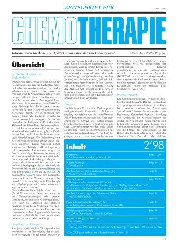PC Heft 2 98_19 - Zeitschrift für Chemotherapie
